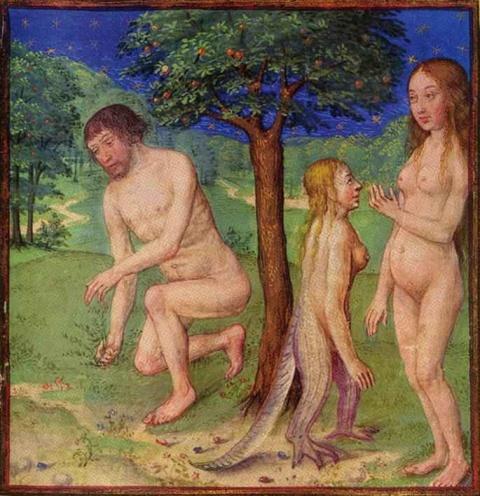 Гравюра Адам и Ева