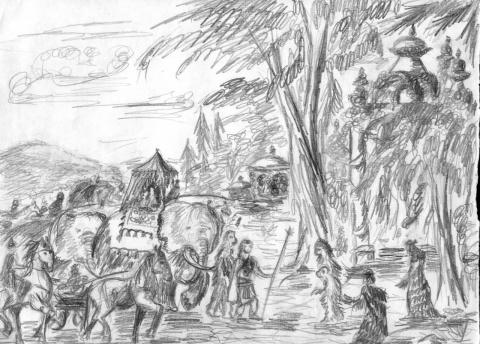 Приход Рамы в страну Ханумана