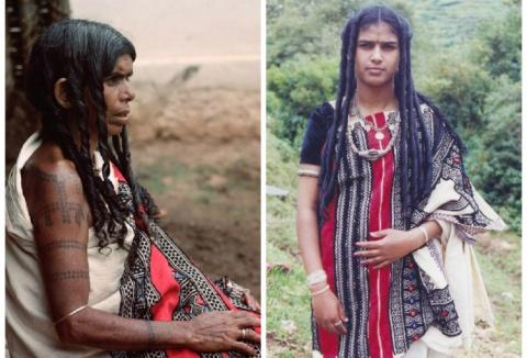 Женщины из племени Тода (Индия)